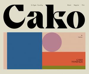 Cako – a new typeface by Violaine & Jérémy