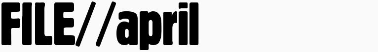 File magazine >> April