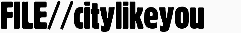 File magazine >> citylikeyou