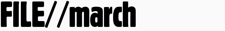 File magazine >> March