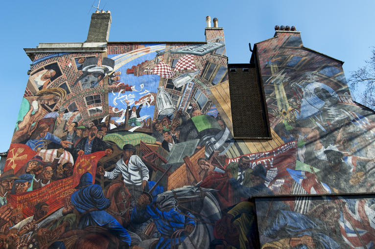 the battle of cable street mural file magazine